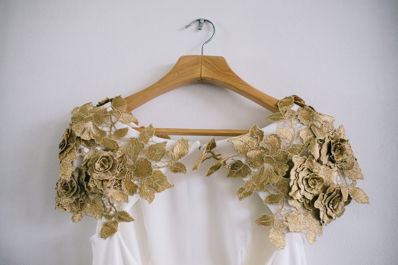 gold detail dress