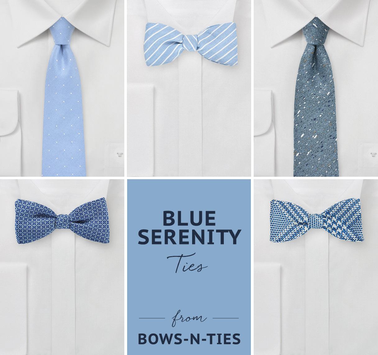 Blue Serenity Ties from Bows-N-Ties