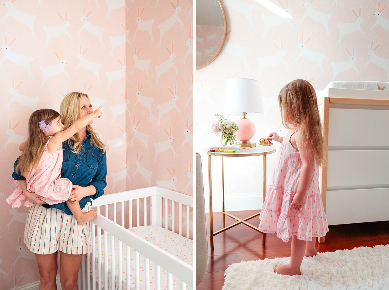A Pink Bunny Nursery With Target Amp Emily Henderson Green