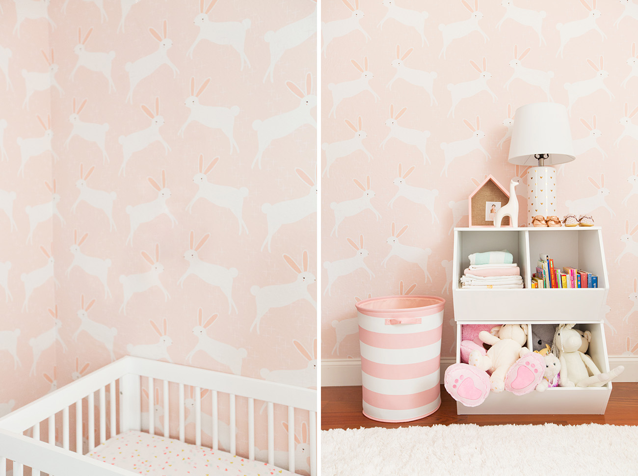 Pink Bunny Nursery for a Baby Girl