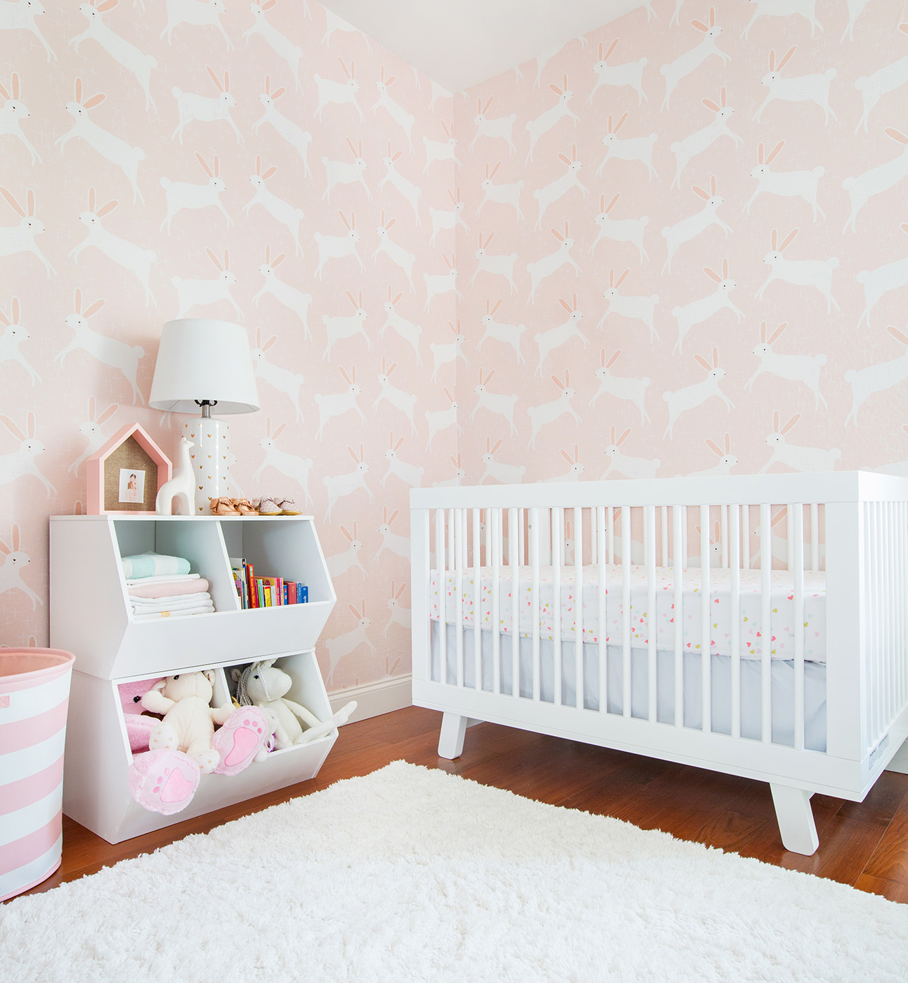A Pink Bunny Nursery with Target & Emily Henderson | Green ...