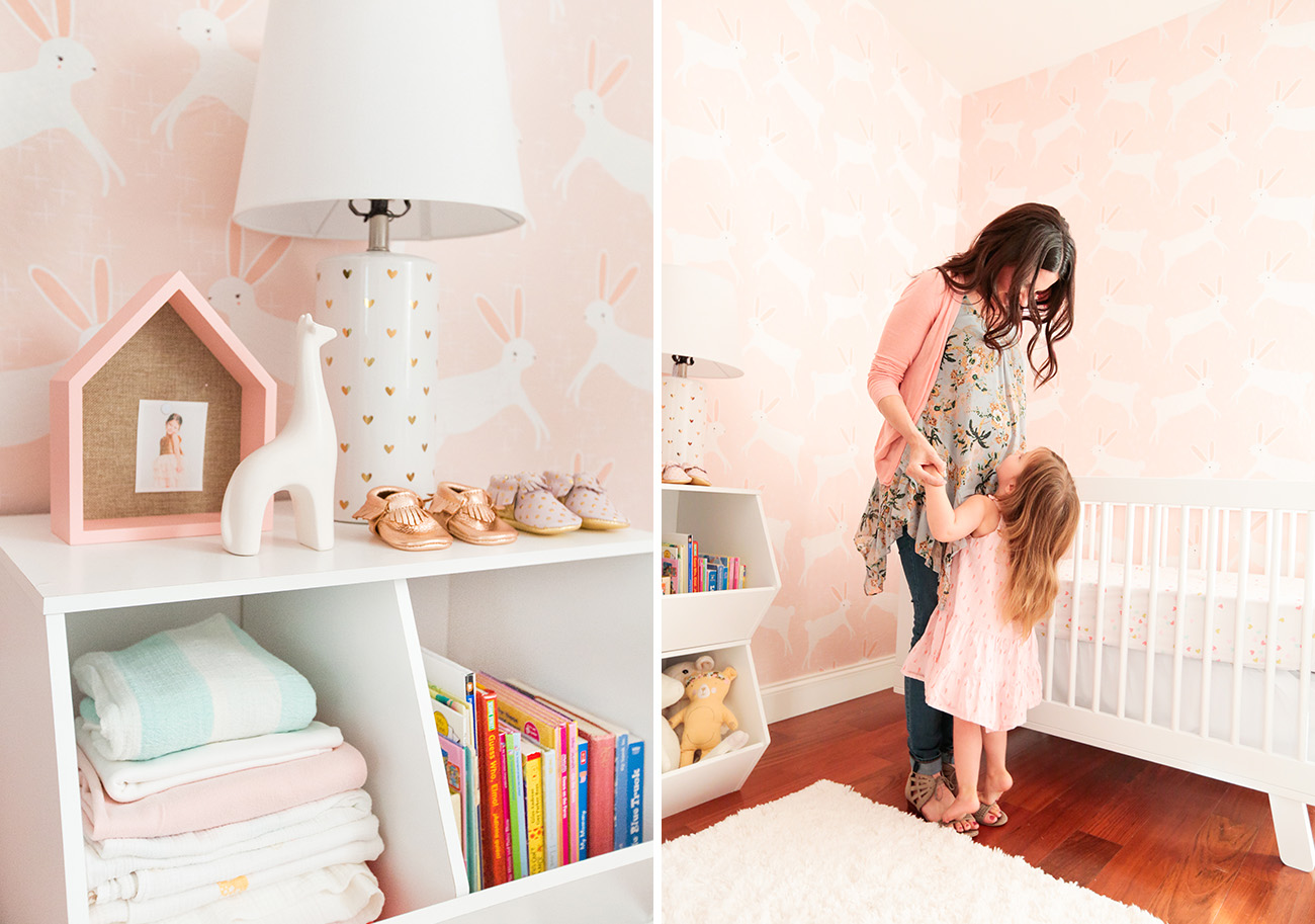 Emily Henderson Designs a Pink Bunny Nursery for a Baby Girl