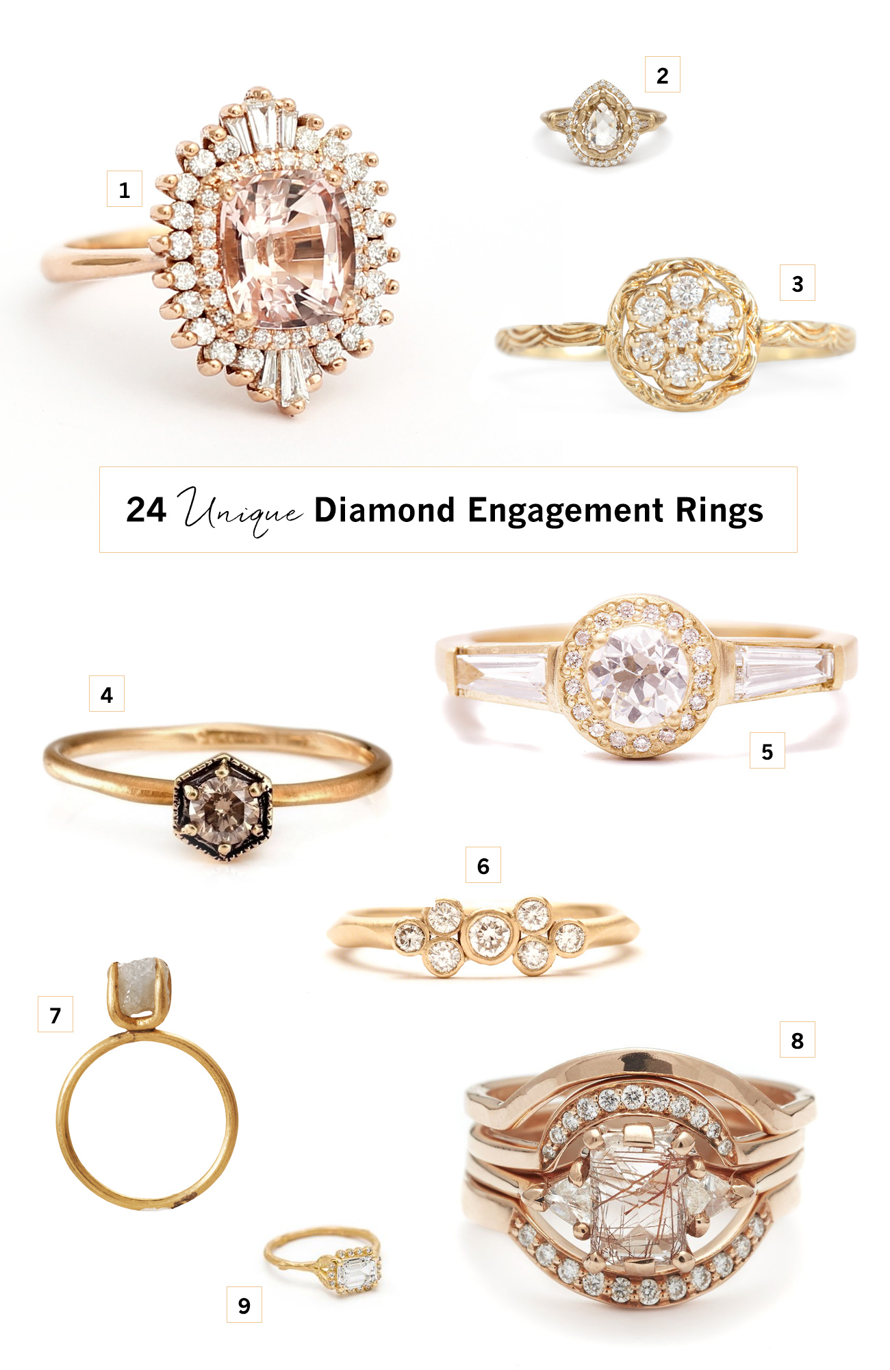 24 Unique Diamond Engagement Rings