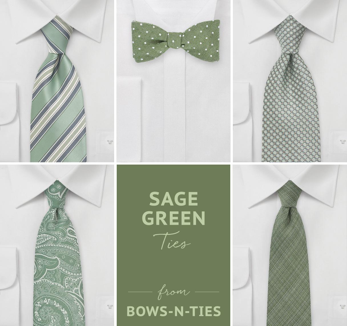 Sage Green Ties from Bows-N-Ties