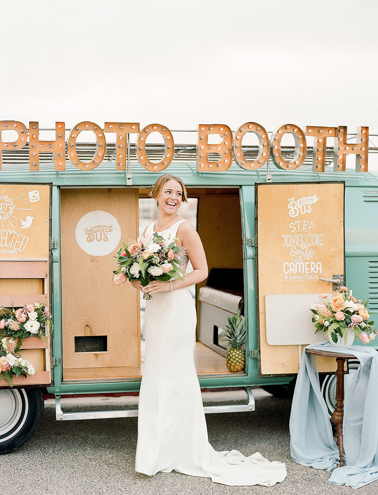 VW bus bride