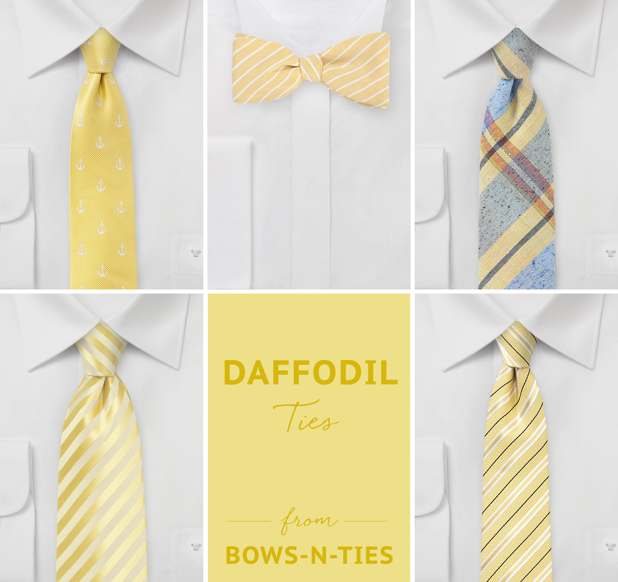 Daffodil Yellow Ties from Bows-N-Ties