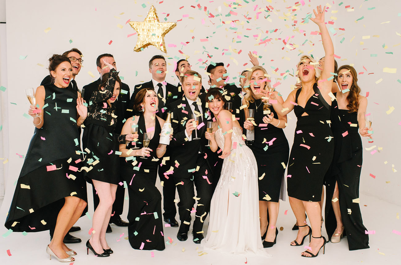 Champagne and Confetti Wedding