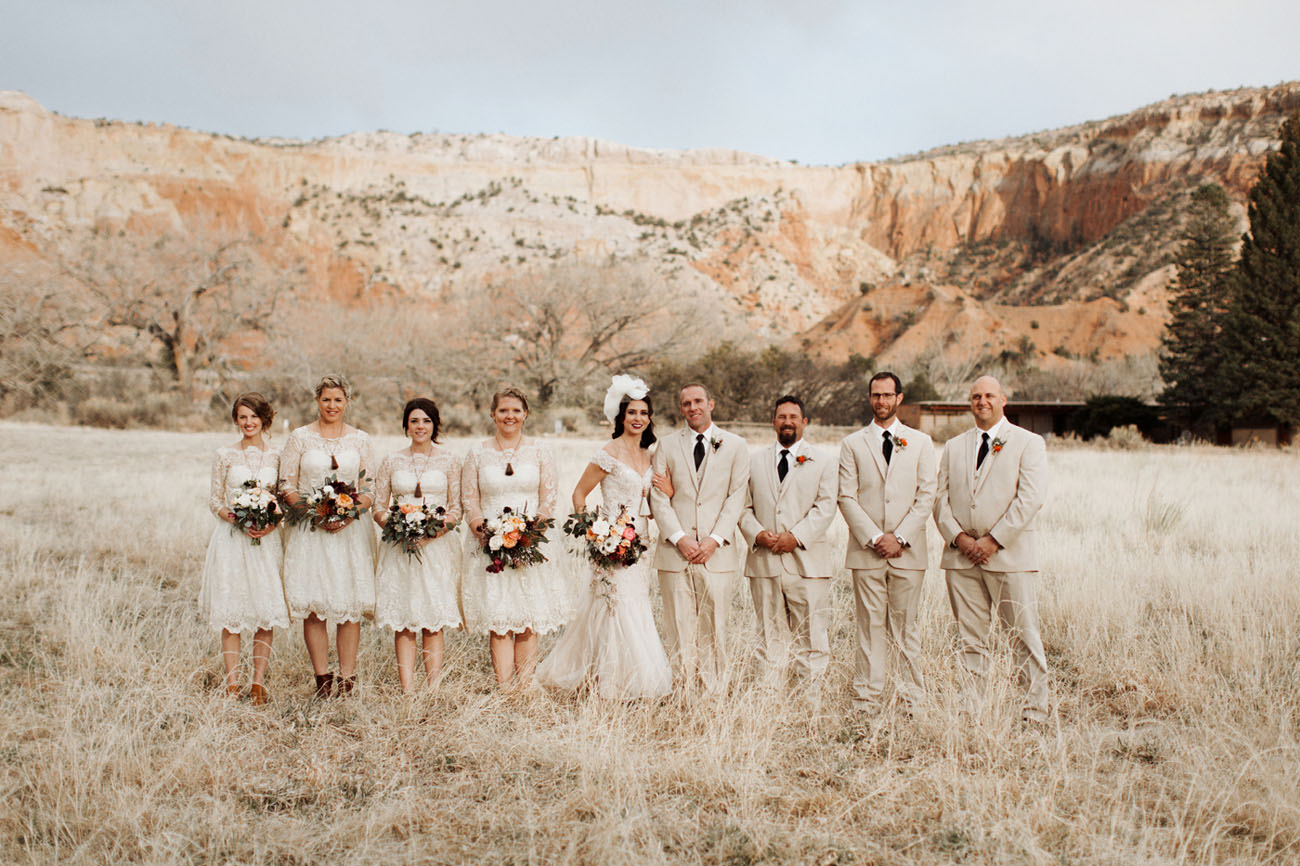 Vintage Ghost Ranch Wedding in New Mexico: Amanda + Ryan