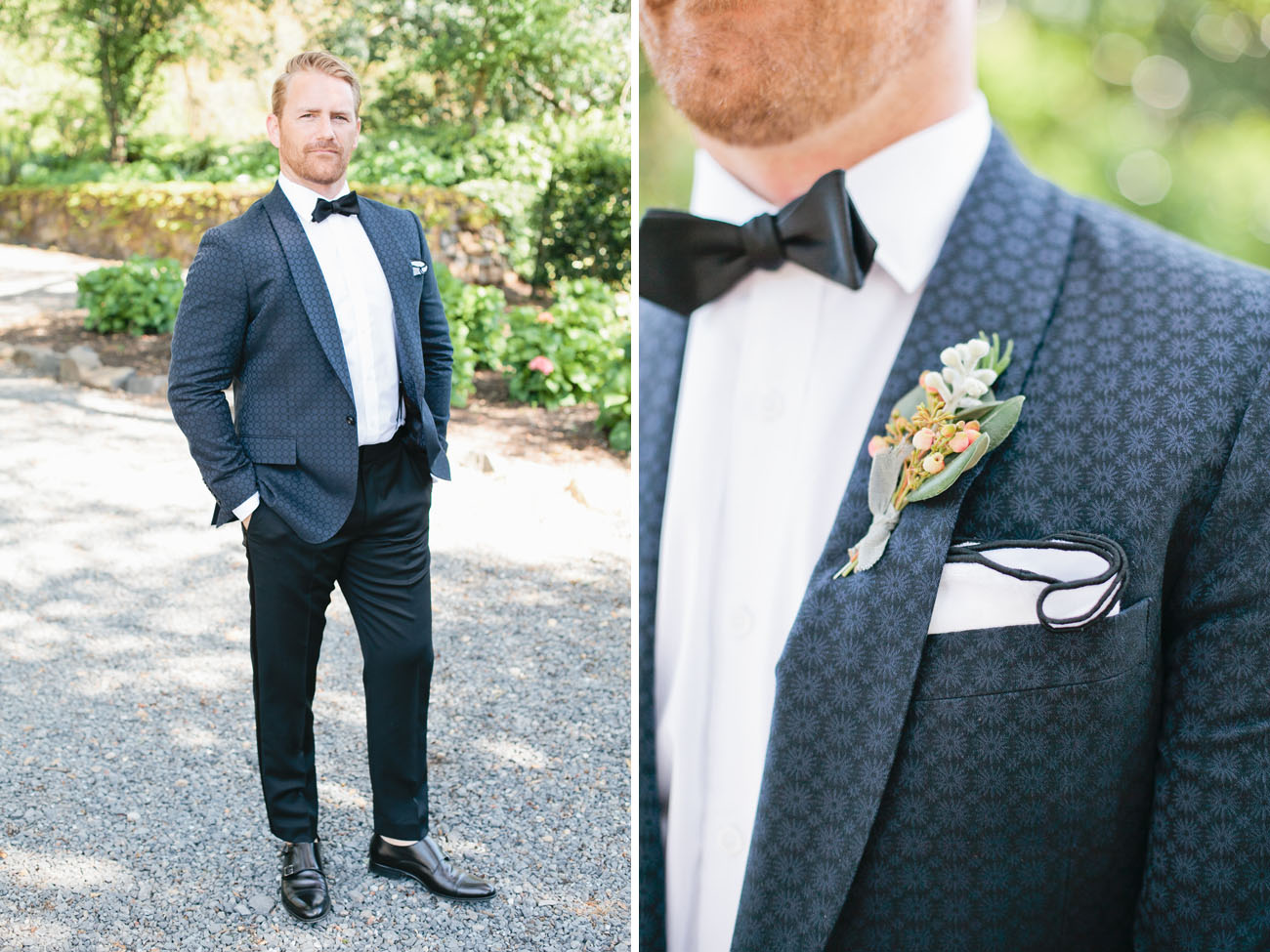 navy jacket groom
