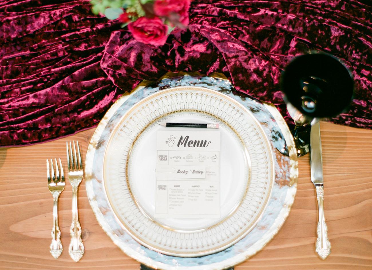 vintage plate setting