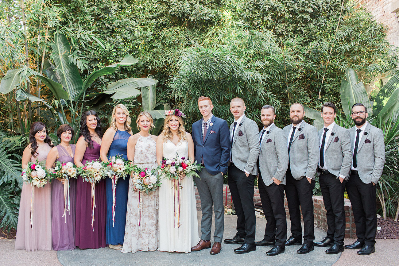 bridal party at the millwick