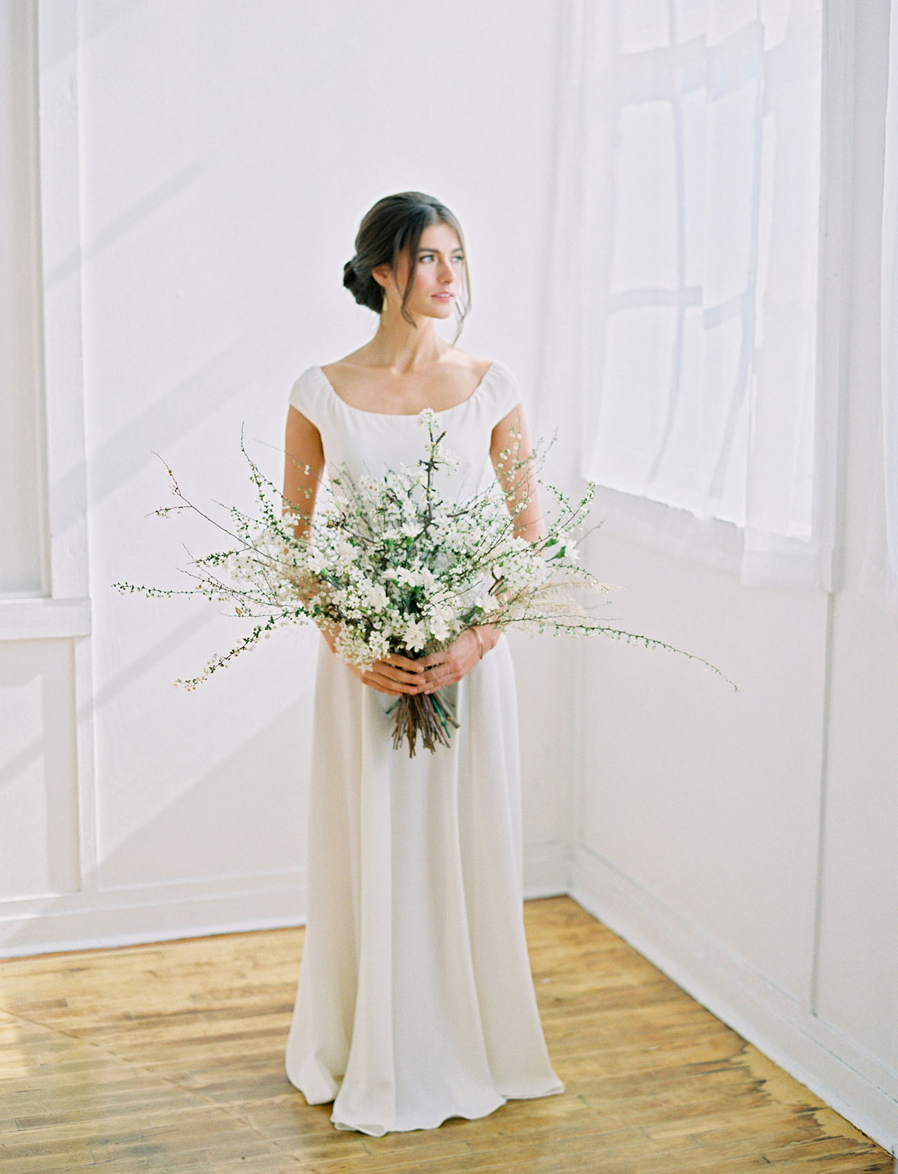 white stem bouquet
