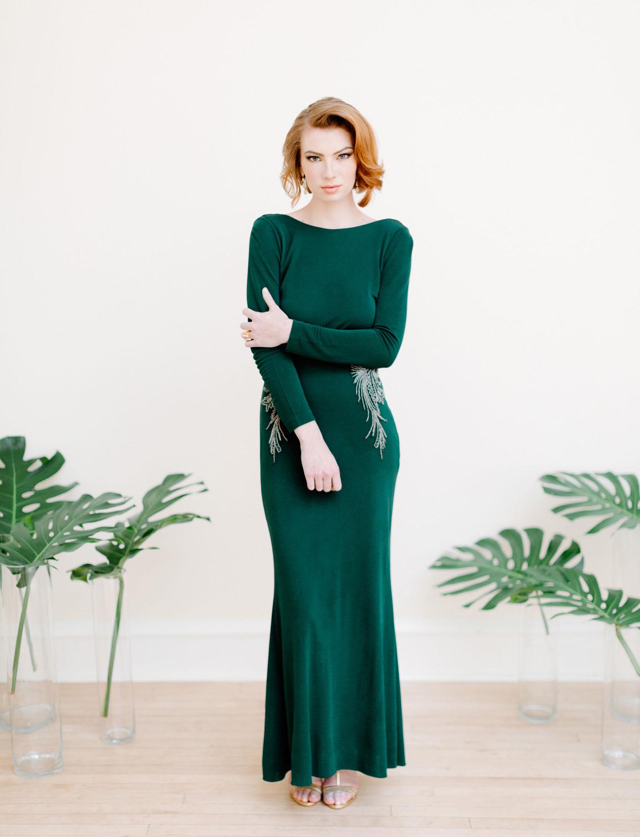 Deco Wedding Dress 98 Spectacular emerald green dress