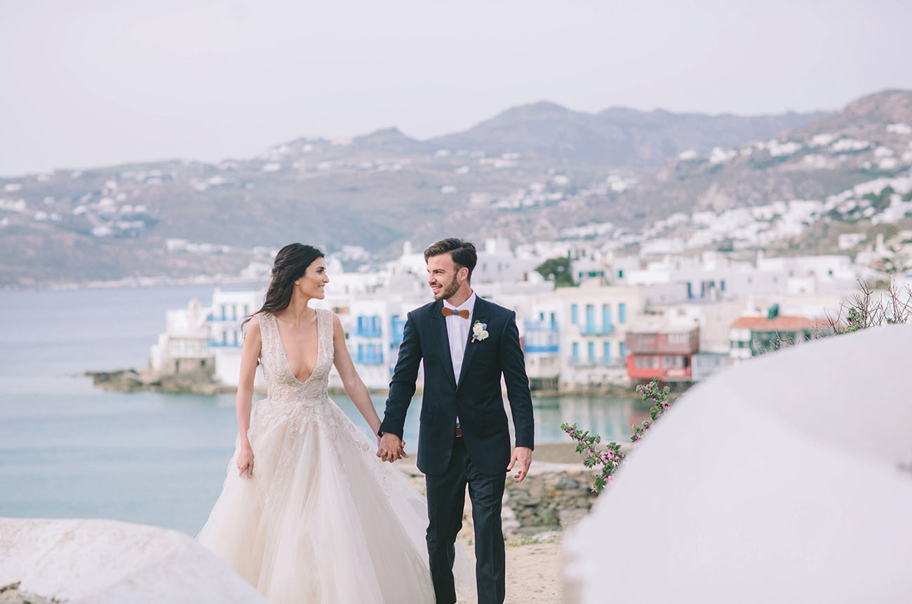 Indigo Copper Wedding Inspiration In Mykonos Greece