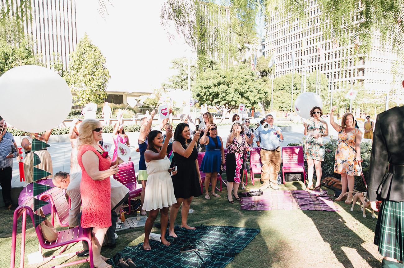 Downtown LA Parade Wedding