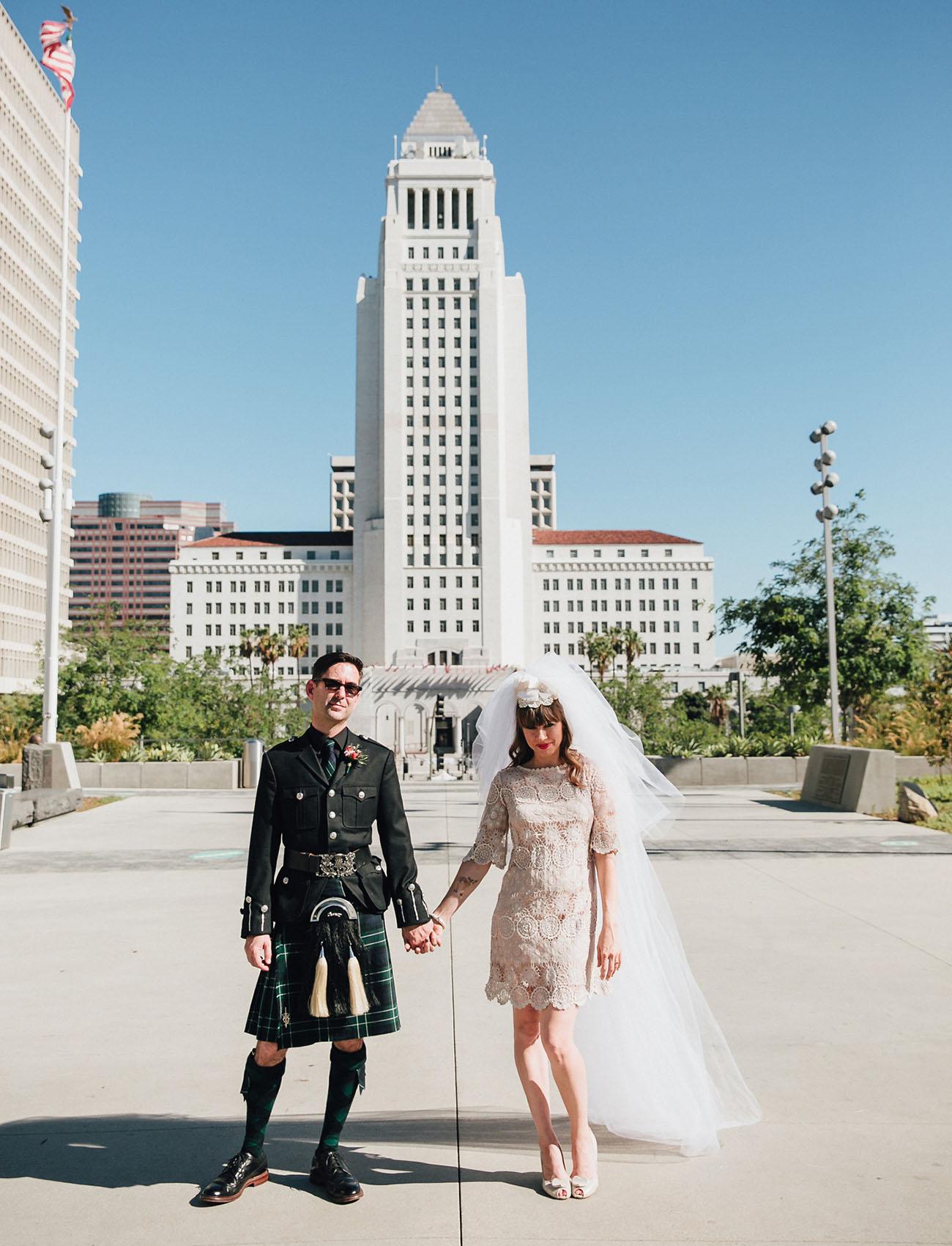 Downtown La Parade Wedding