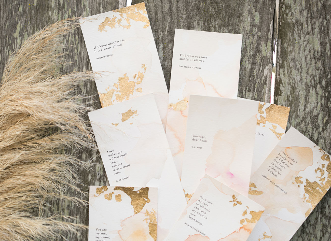 gold foil paper goods