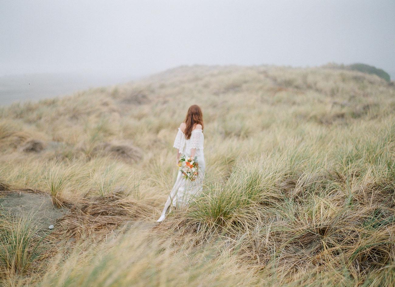 Rustic Windswept Wedding Inspiration Green Wedding Shoes