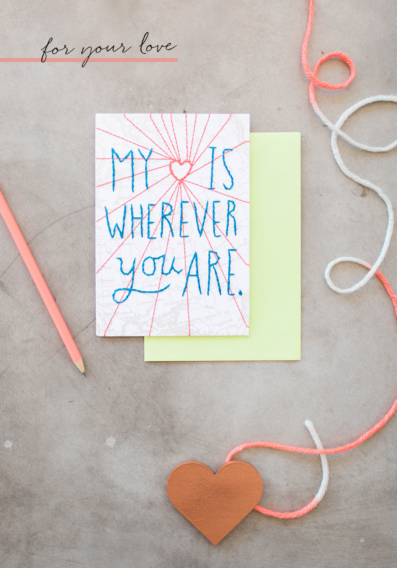 My Heart is Wherever You Are Card