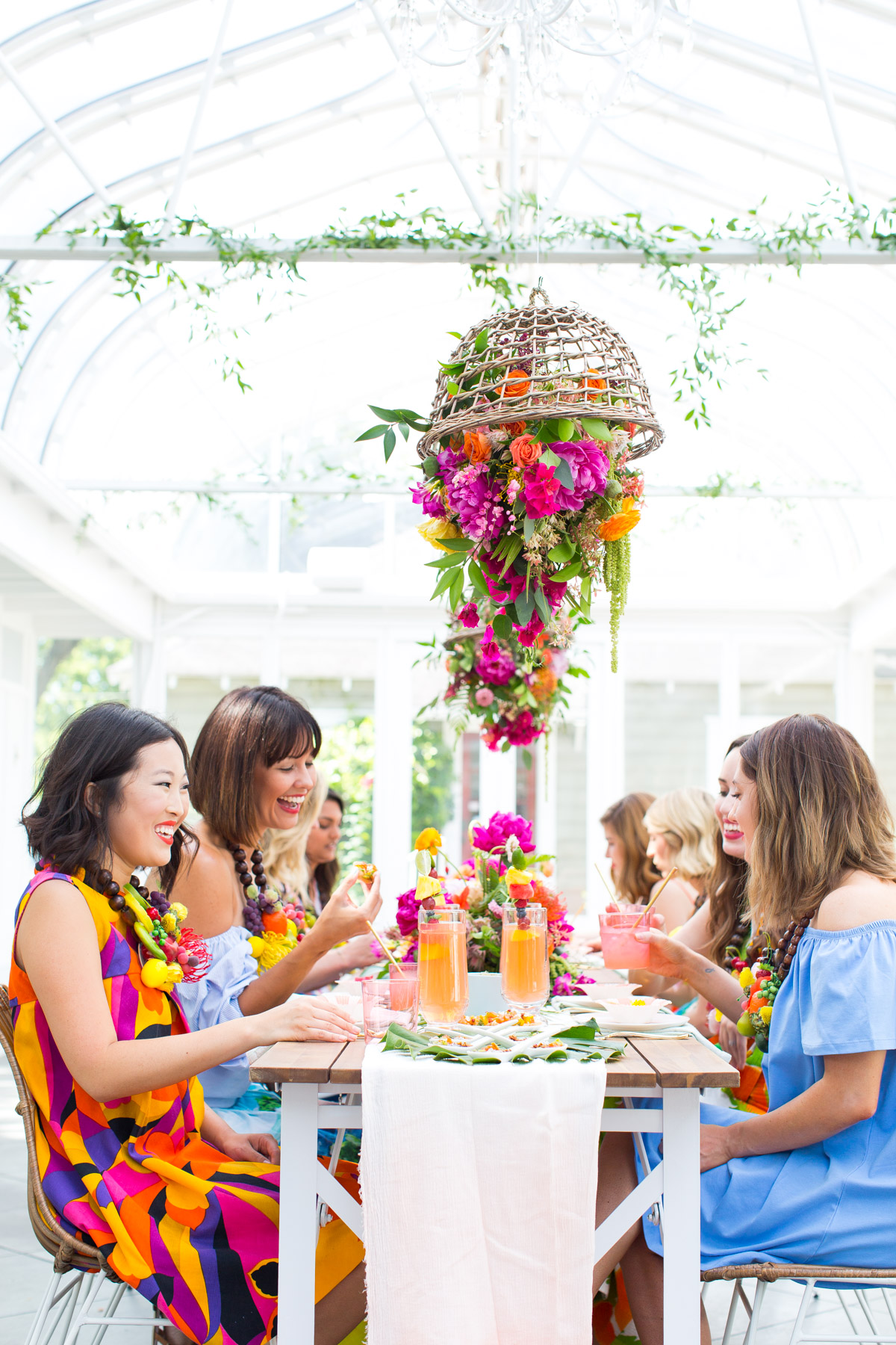 Tropical Greenhouse Bridal Shower Inspiration Green