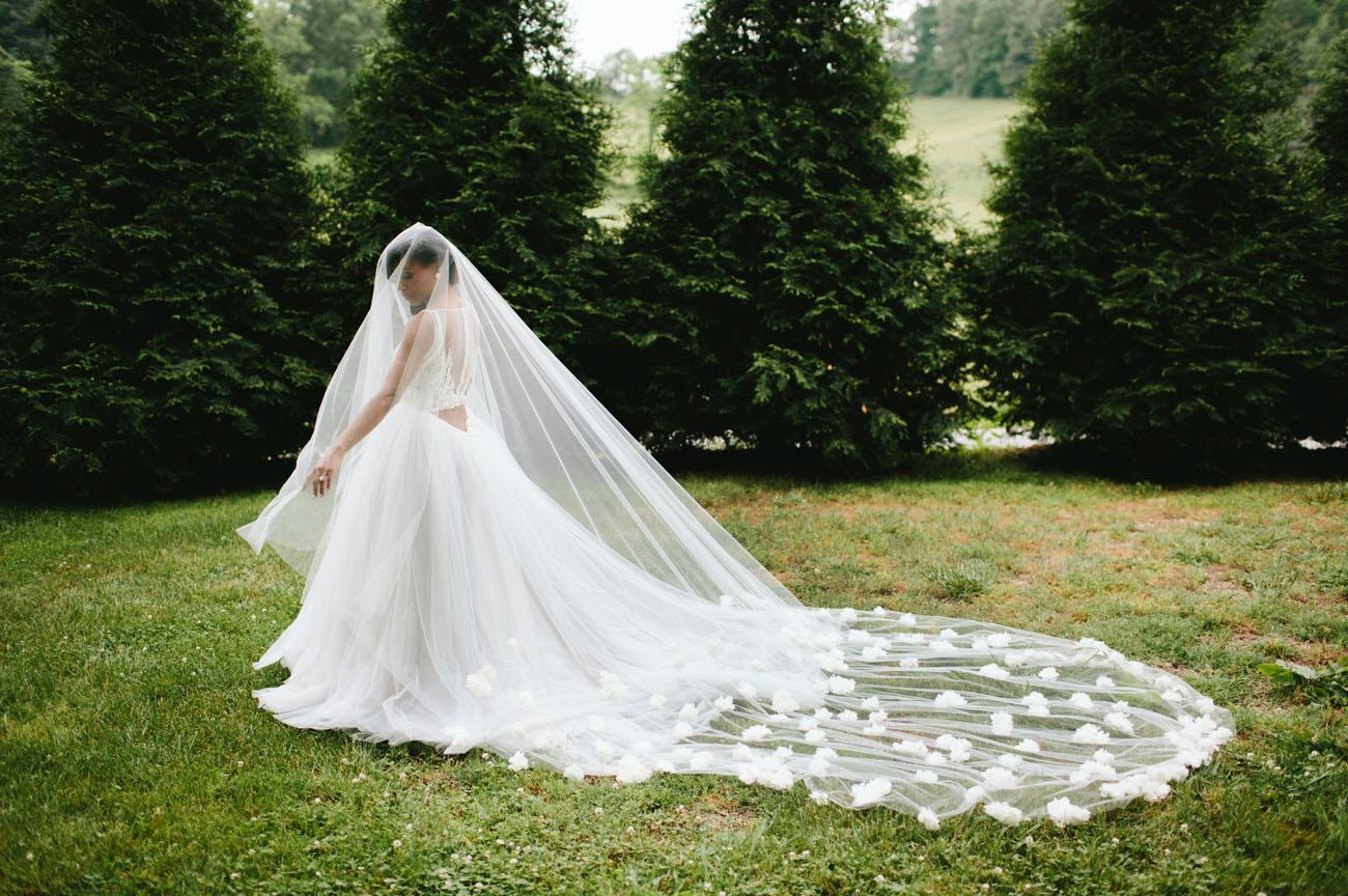 flower petal veil