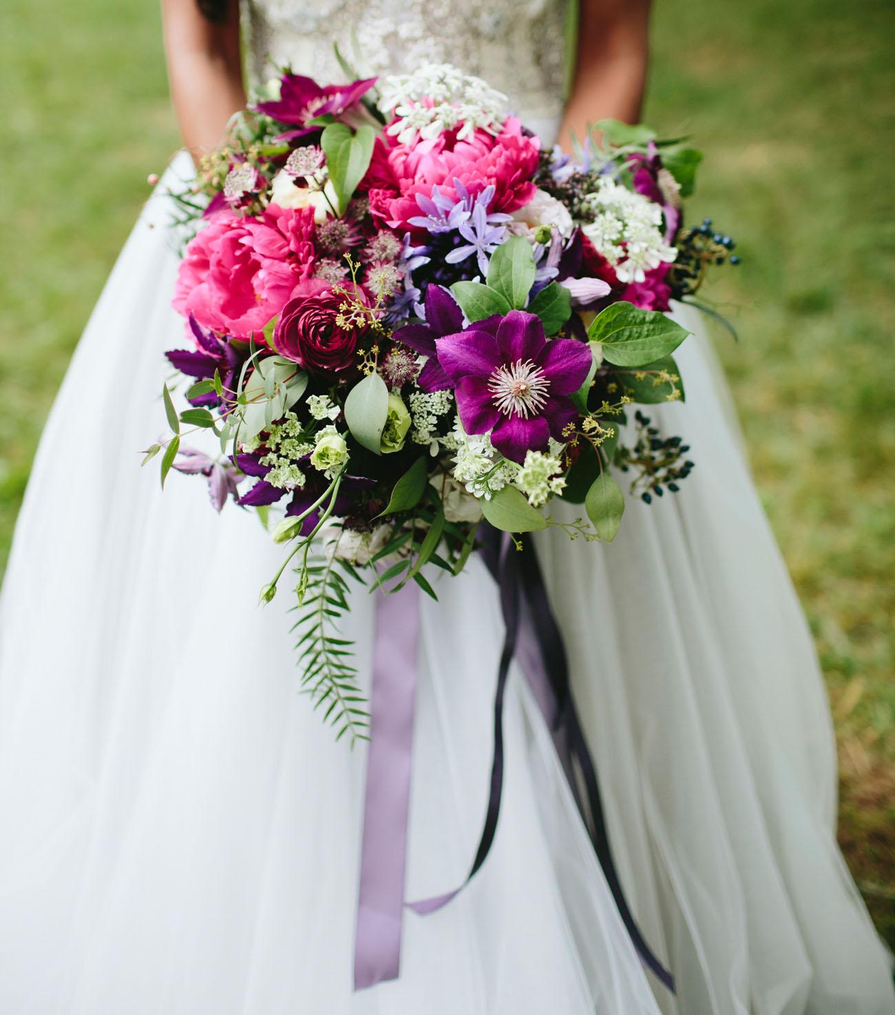 colorful purple bouquet