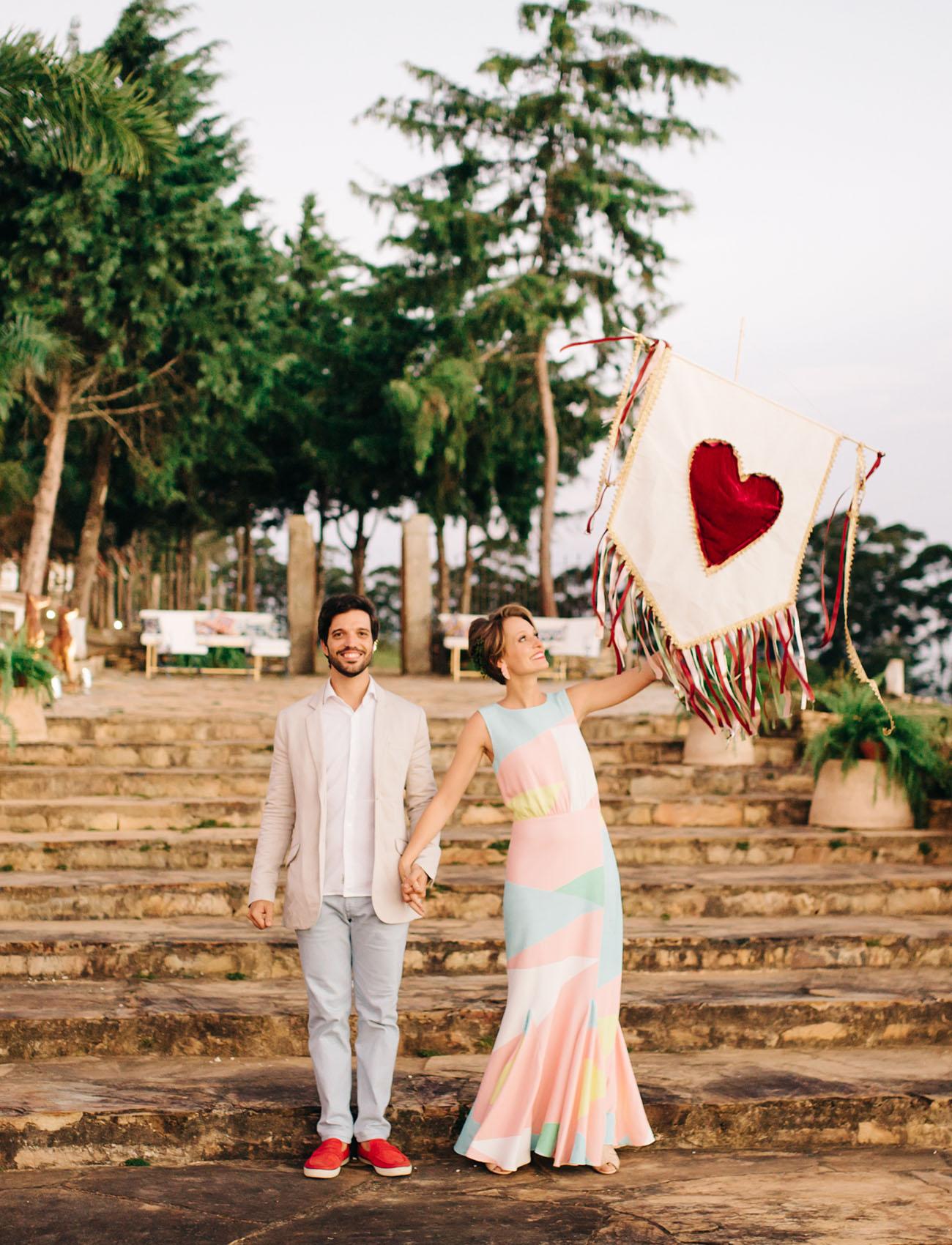 heart wedding banner
