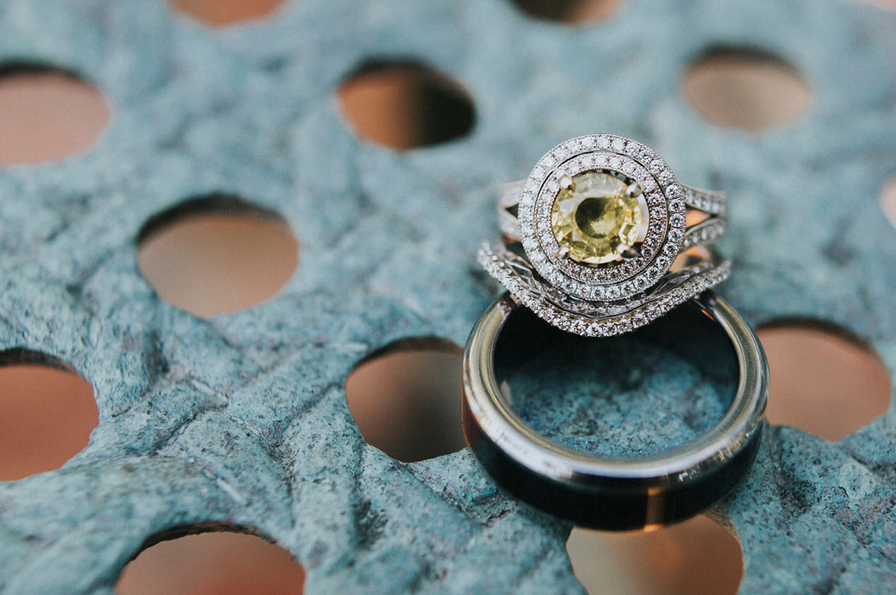 yellow halo ring