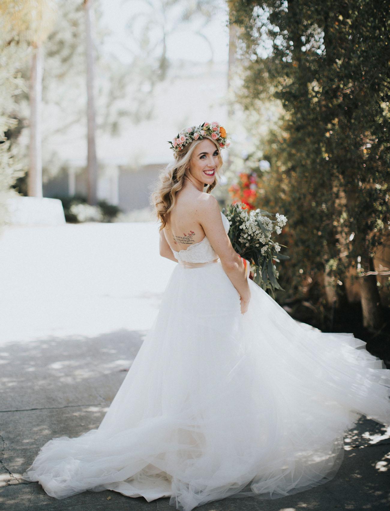 flower crown bride