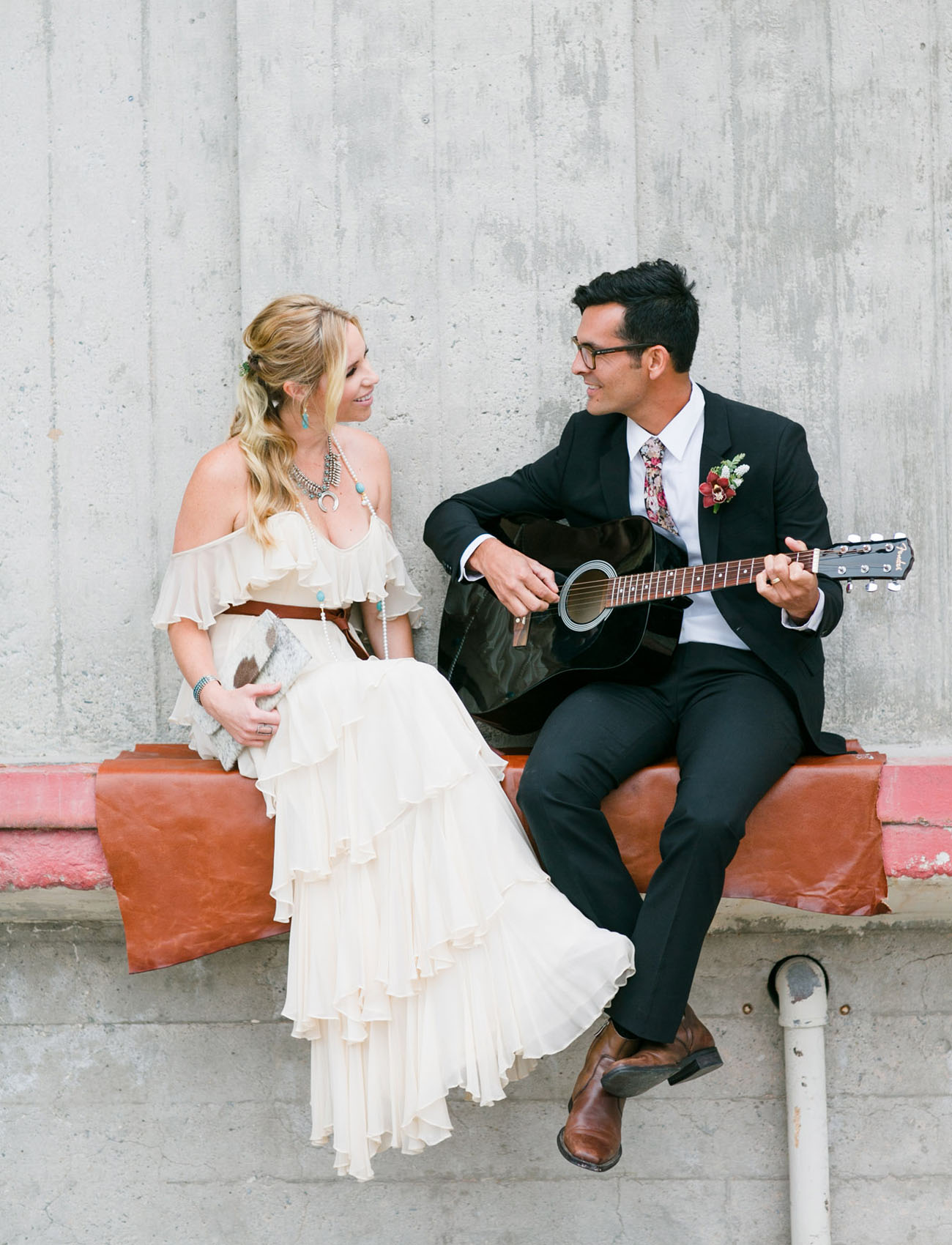 Industrial, Mid-Century Wedding Inspiration at The Santa Barbara Wine Collective