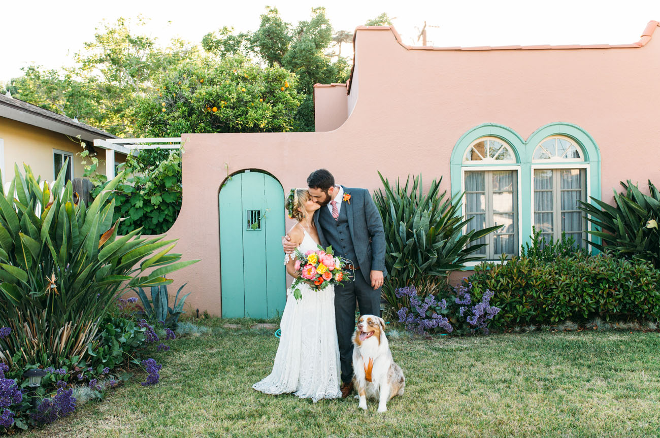 Boho Backyard Wedding : Stylish Bohemian Backyard Wedding Candice + Joe  Green Wedding Shoes