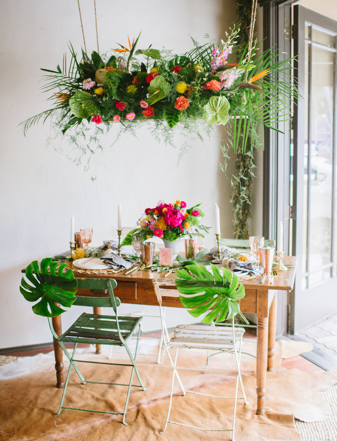 Modern Tropical Wedding Inspiration from Minted + A $500 ...