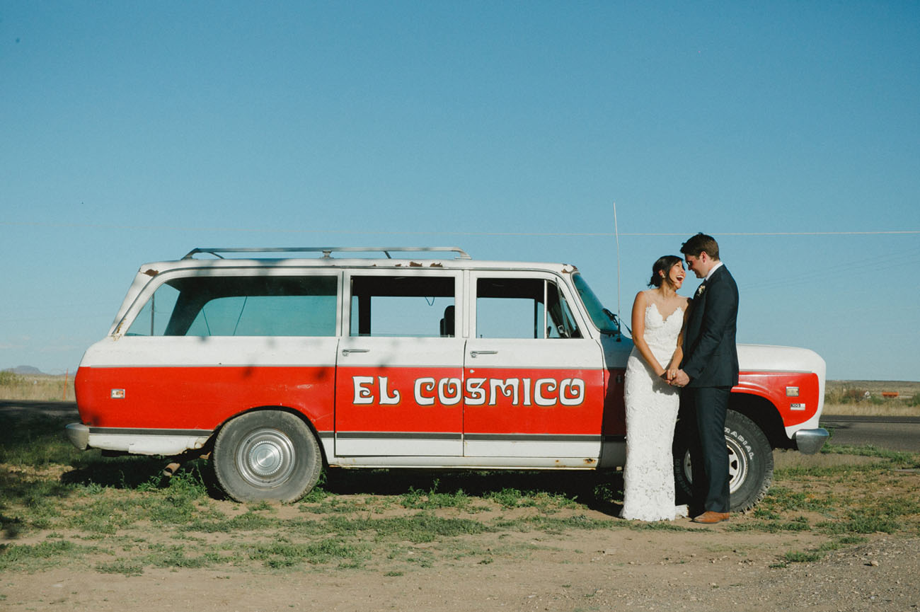 Magical Marfa, Texas Elopement: Sam + My