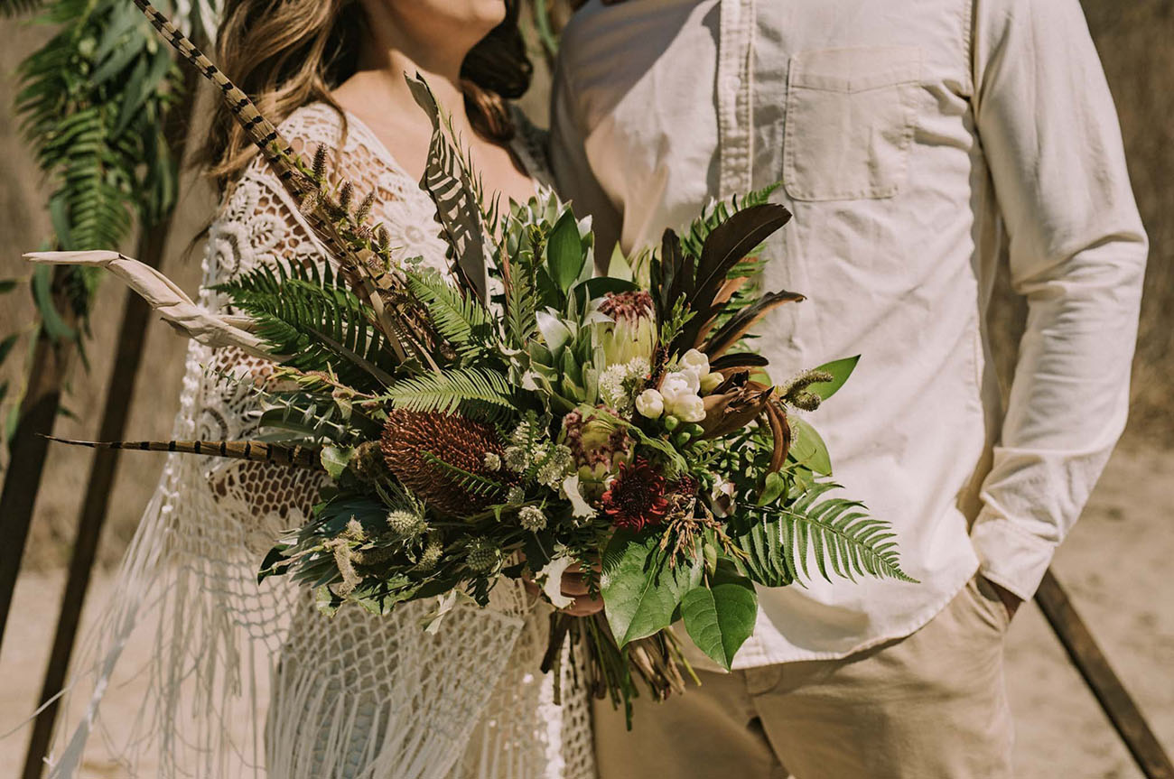 boho tropical bouquet