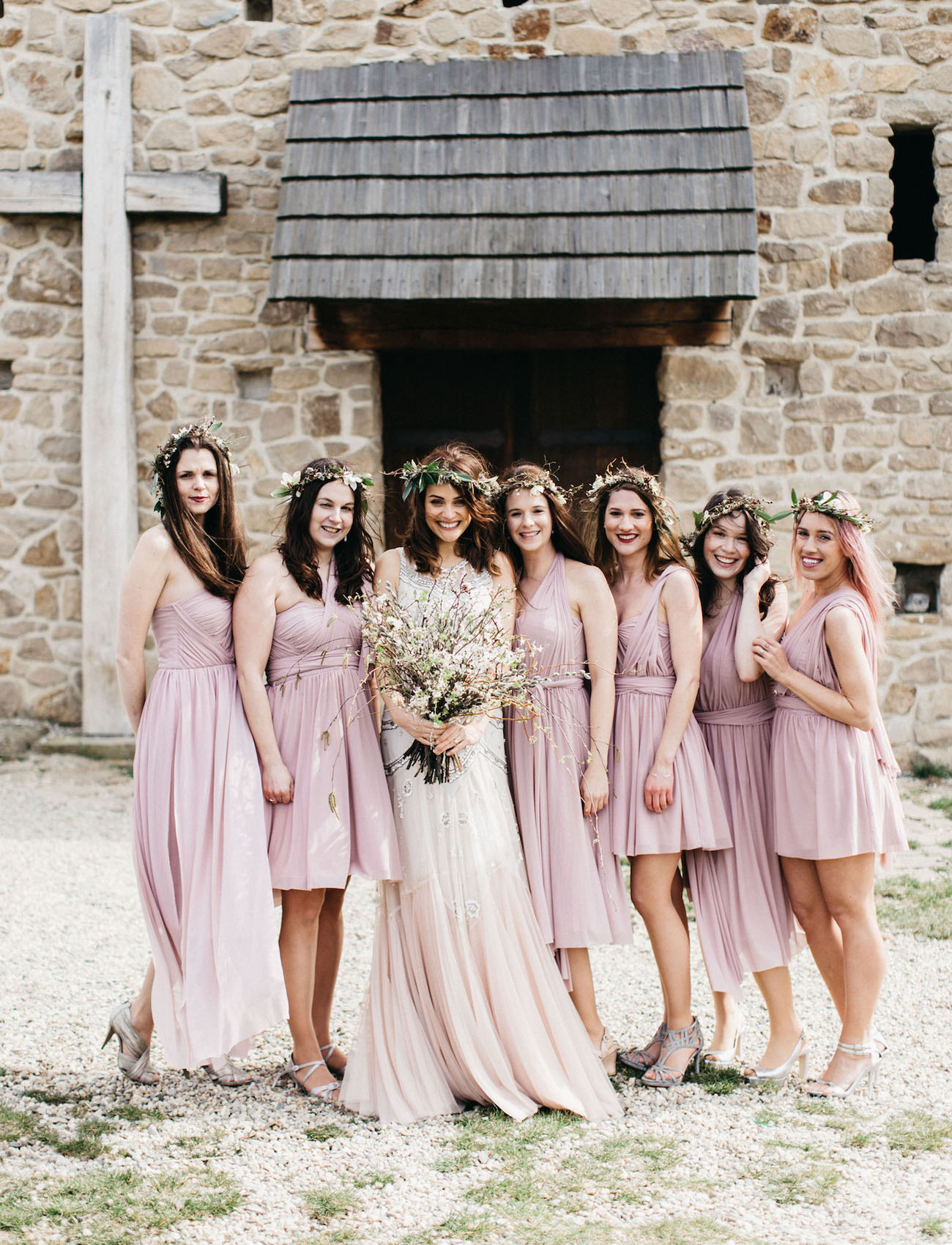 Early spring wedding in the czech countryside tea matt green bridesmaids ombrellifo Images