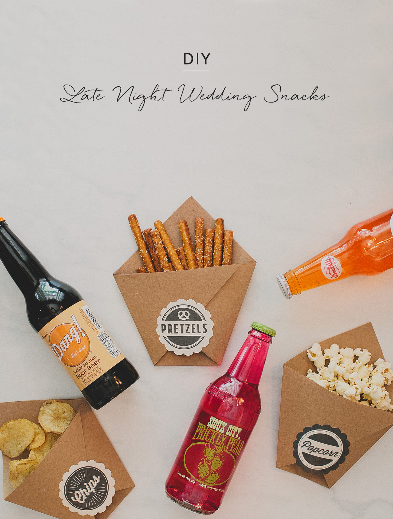 DIY Late Night Wedding Snacks