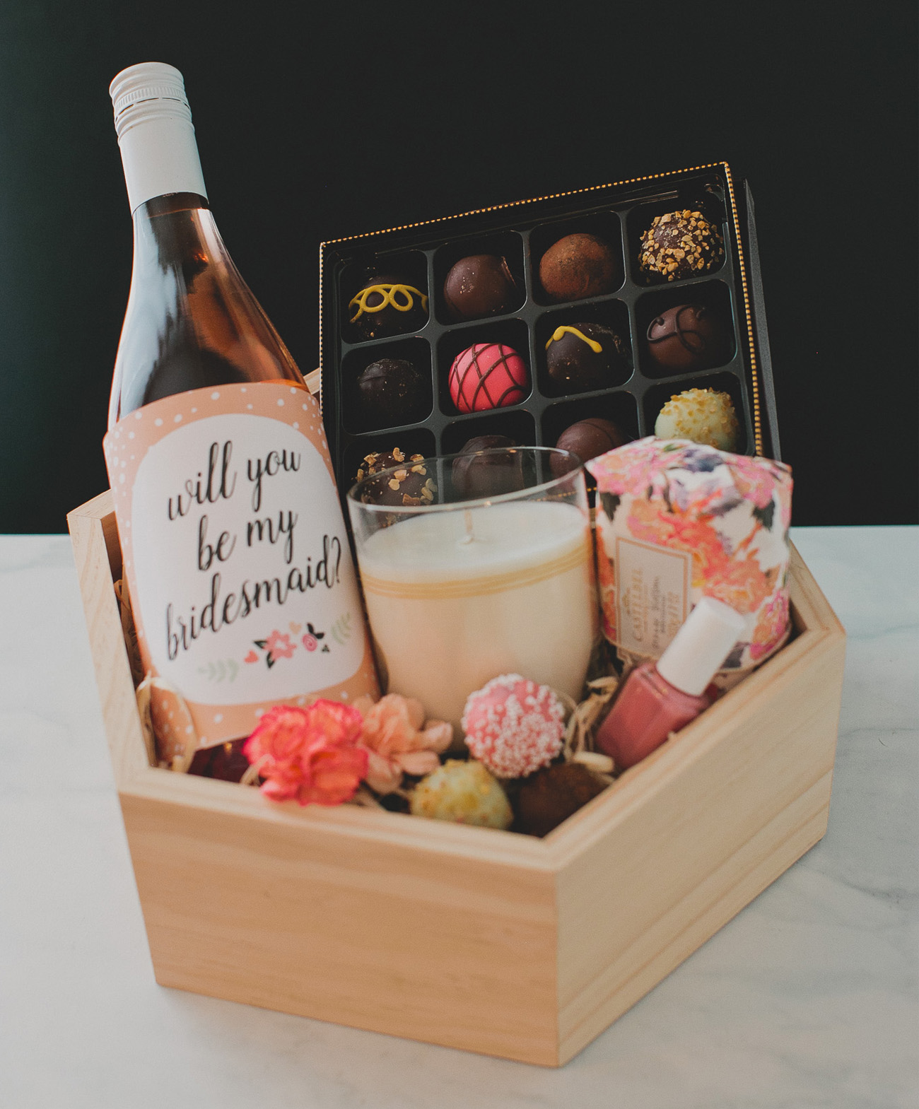 Wedding Gift Ideas For Bridesmaids: DIY Bridesmaid Gift Box With Godiva
