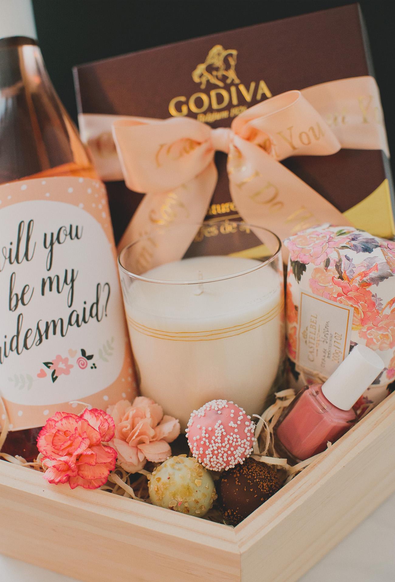 Diy Bridesmaid Gift Box With Godiva Green Wedding Shoes
