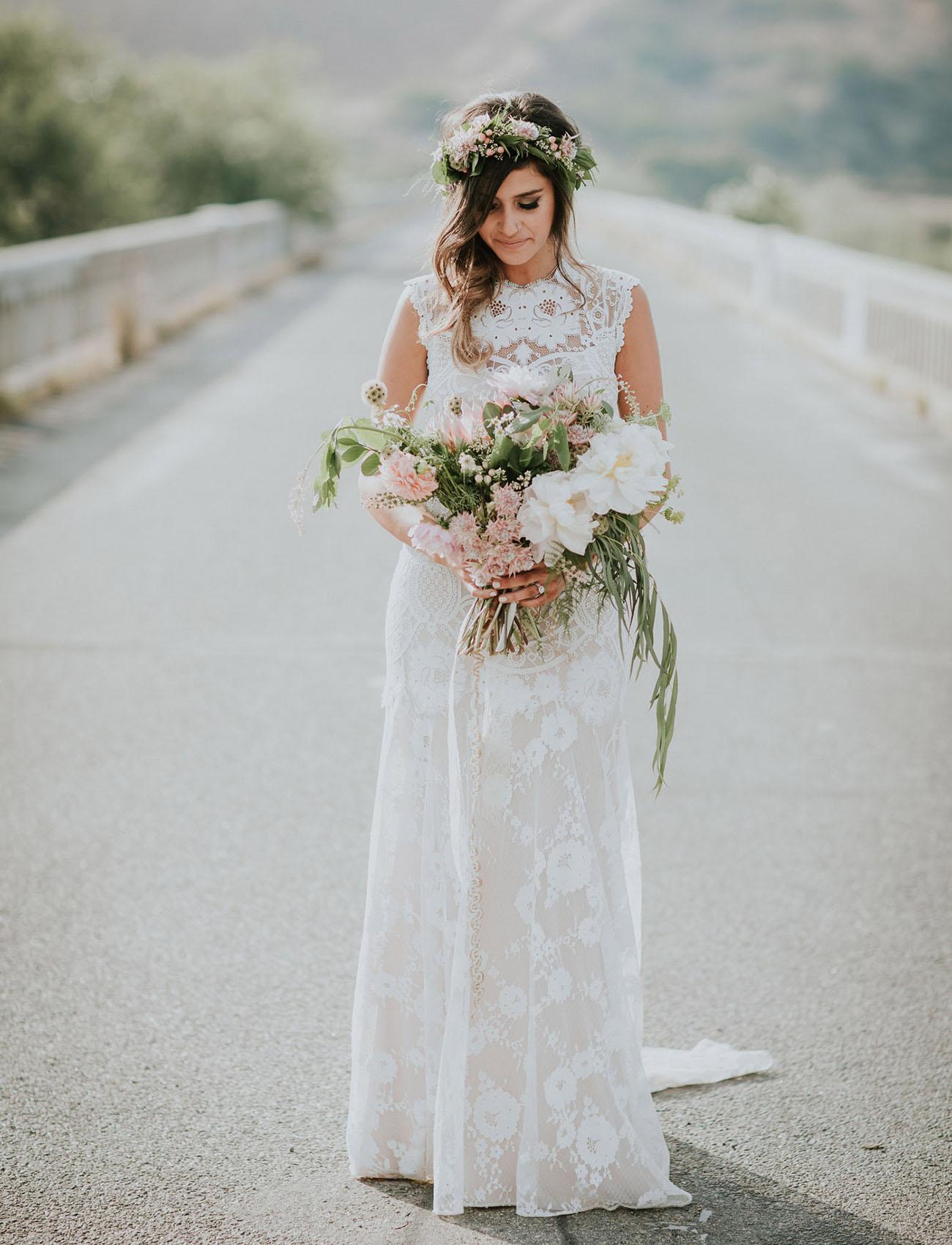 Boho Wedding Dress Florida : Bohemian california garden wedding brittany andrew