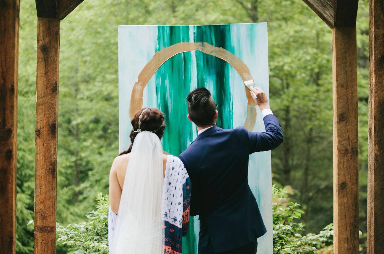 Artsy Bohemian Mountain Wedding Sarah Drew