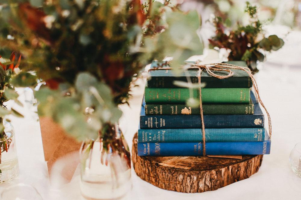 book table decor
