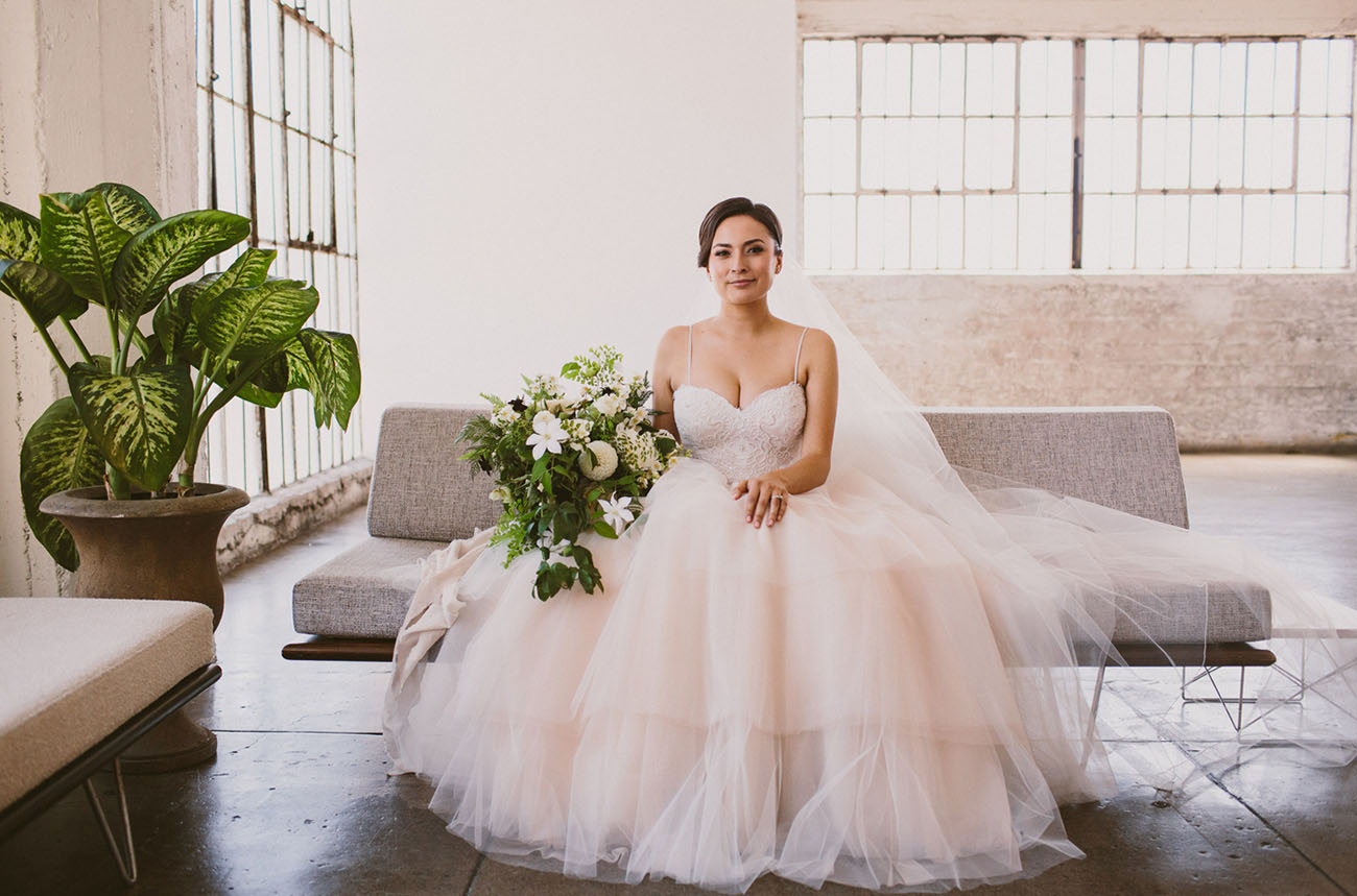 blush tulle dress