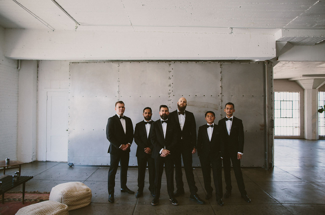 the black tux groomsmen