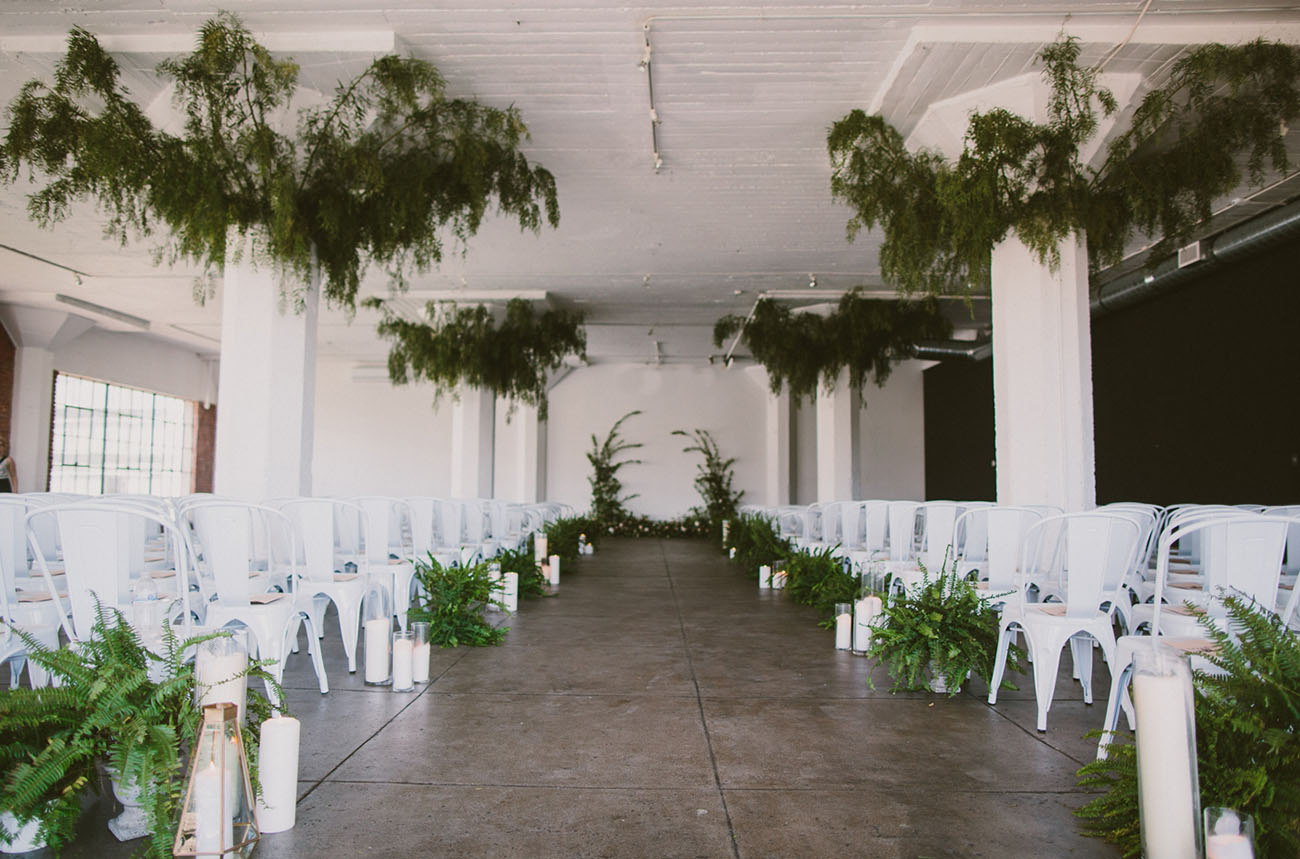 whimsical greenery ceremony