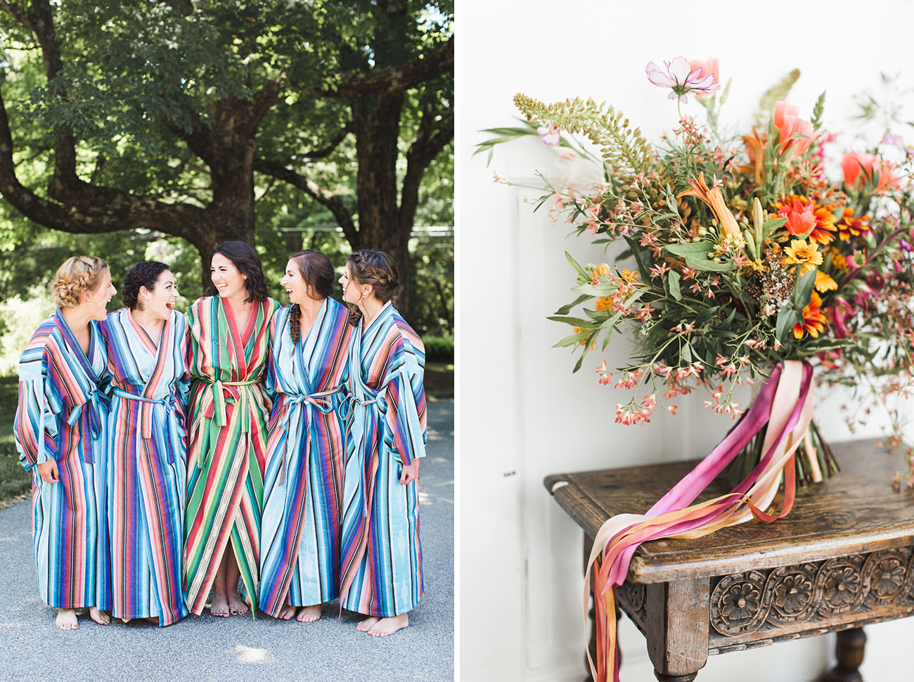 striped robes