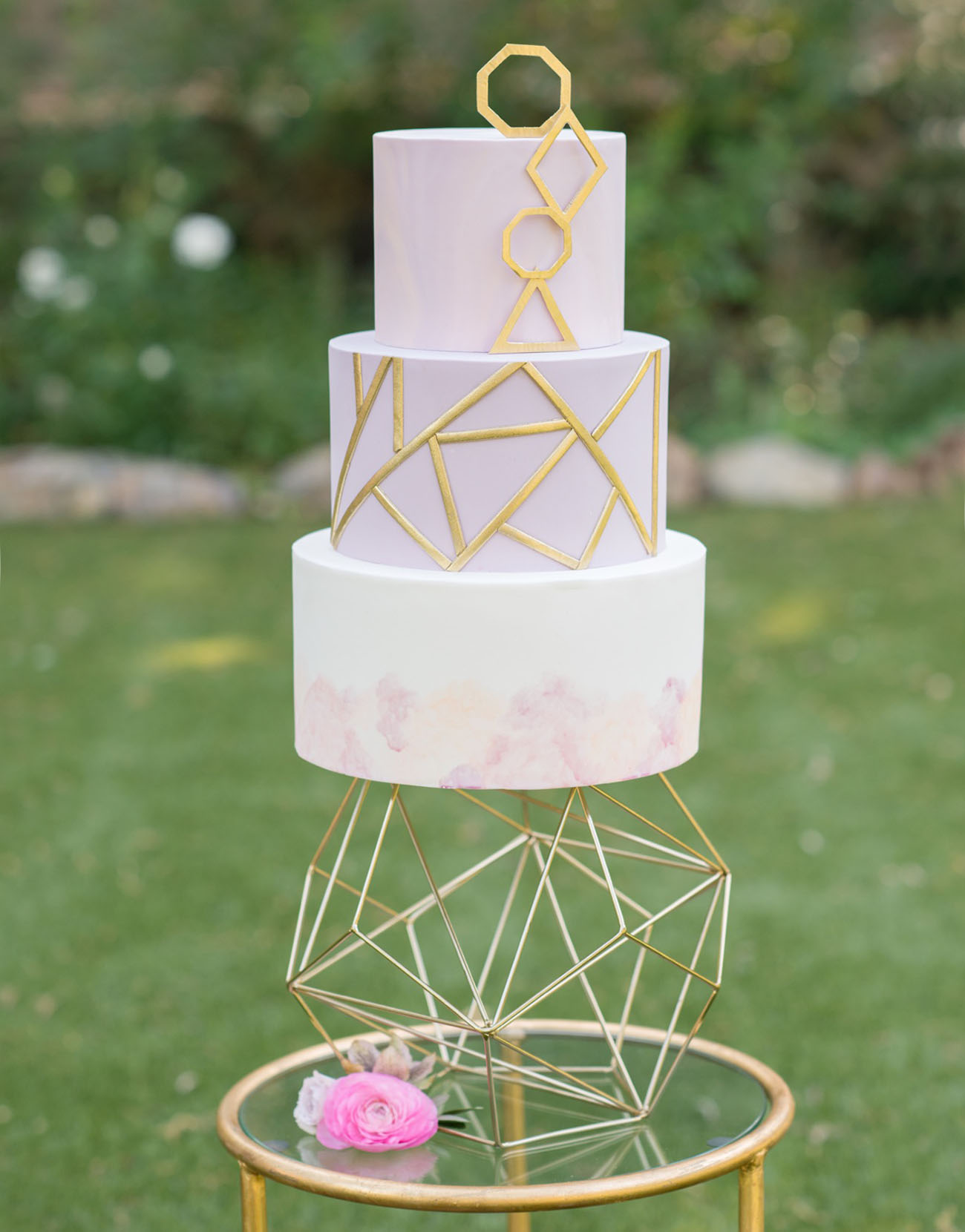 Copper Wedding Cake Stand