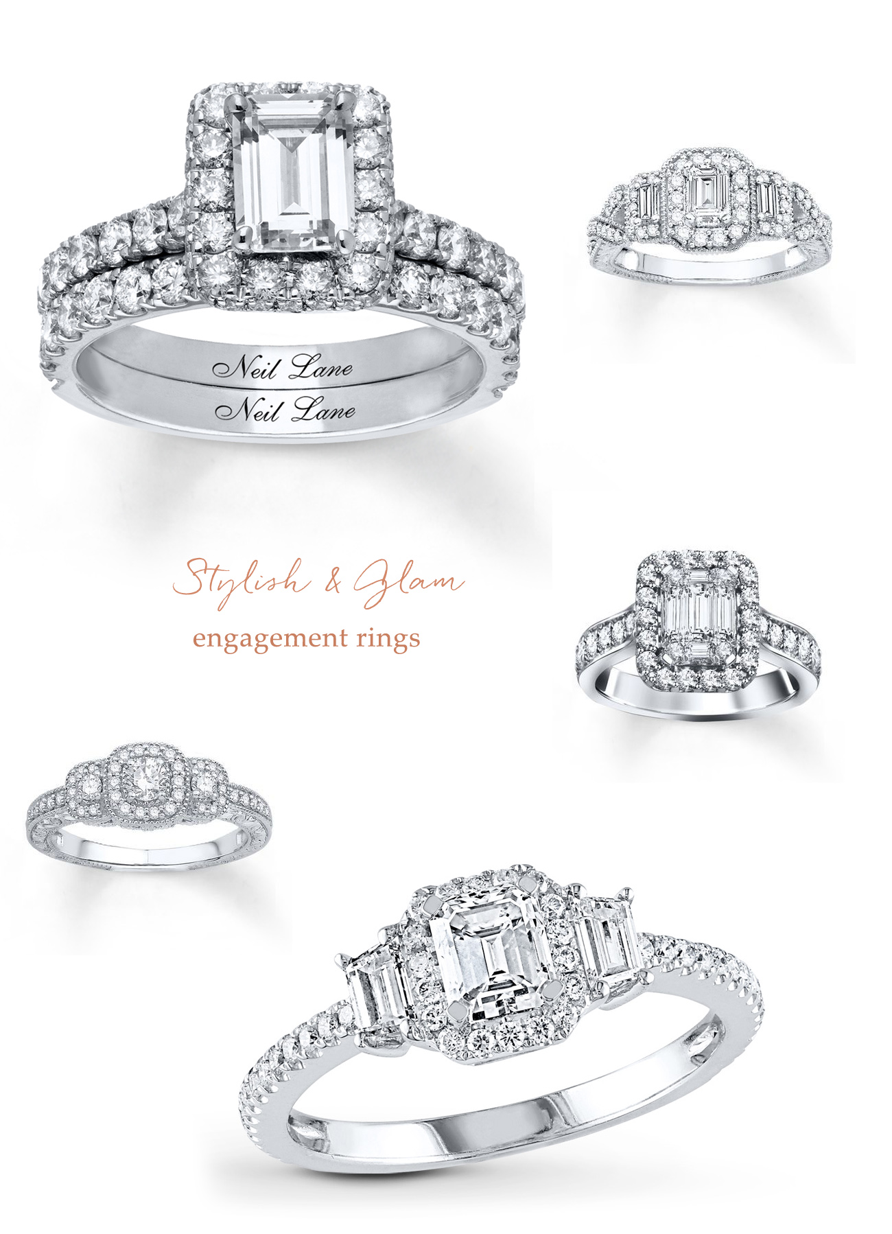 glam engagement rings from Jared