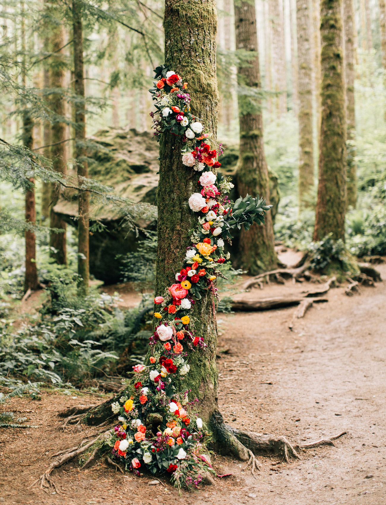 flower wrapped tree