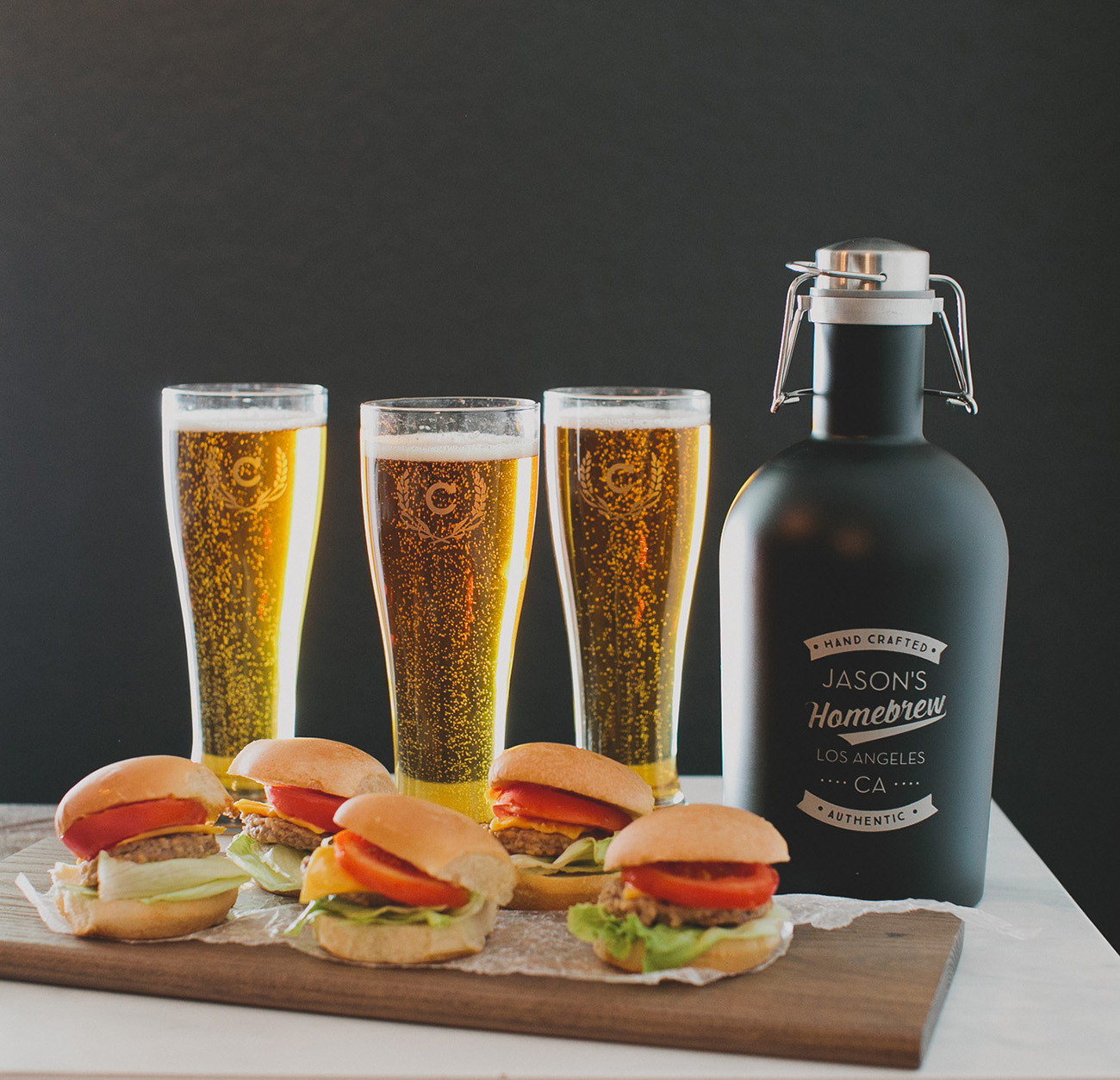 personalized beer glasses and growler from shutterfly
