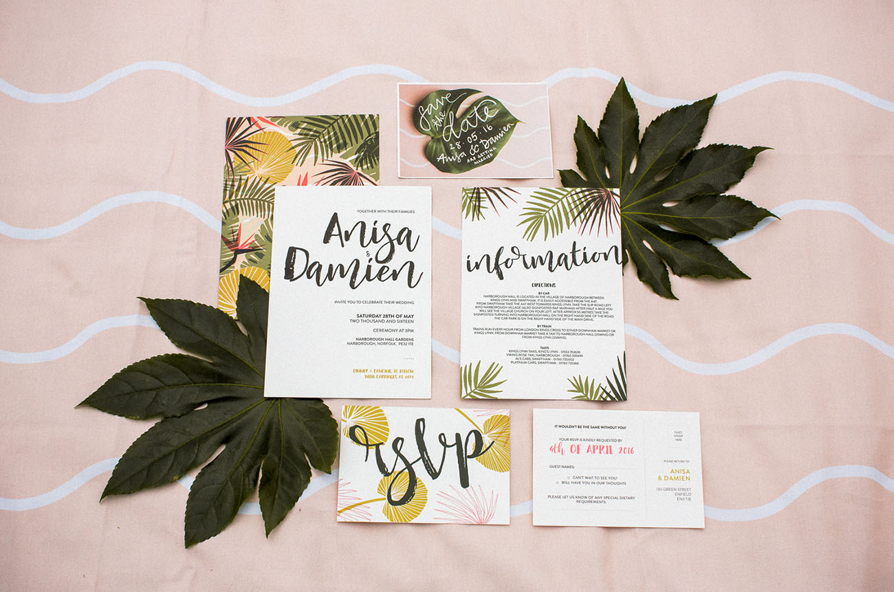 tropical invitation